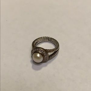 Pearl and Diamond David Yurman Ring